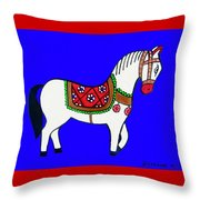 Toy Wooden Horse 1 Throw Pillow