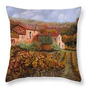 tra le vigne a Montalcino Throw Pillow by Guido Borelli