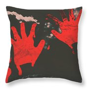 Trace Of A Serial Killer Throw Pillow