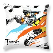 Tracer Overwatch Throw Pillow