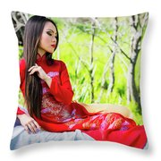 Tracie Dang 3 Throw Pillow