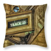 Track 25 Throw Pillow