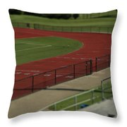 Track And Field Of Depth  Throw Pillow
