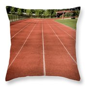 Track And Field Of Depth One Throw Pillow