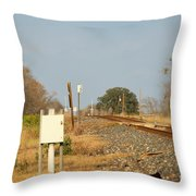 Track Crossing  Throw Pillow