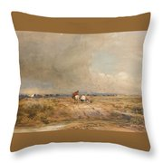 Track On A Windy Day Throw Pillow
