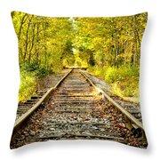 Track To Nowhere Throw Pillow