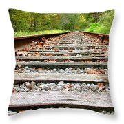 Tracking To The Right And Around The Bend Throw Pillow