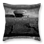 Tracks And Bolts Throw Pillow