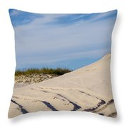 Tracks In The Sand Dunes Throw Pillow
