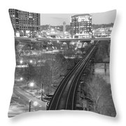 Tracks Into The City Throw Pillow