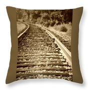 Tracks Throw Pillow