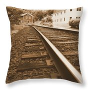 Tracks To Town Throw Pillow
