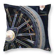 Traction Engine.  Throw Pillow