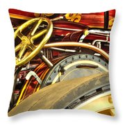 Traction Engine Steering Mechanism Throw Pillow