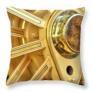 Traction Engine Wheel Throw Pillow