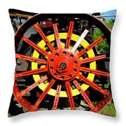 Tractor Big Wheel Throw Pillow