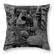 Tractor Bw Throw Pillow