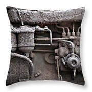 Tractor Engine II Throw Pillow