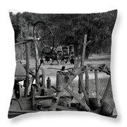 Tractor Graveyard Throw Pillow