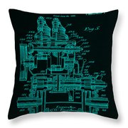 Tractor Patent Drawing 7f Throw Pillow
