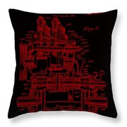 Tractor Patent Drawing 7j Throw Pillow