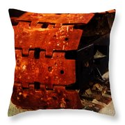 Tractor Track Throw Pillow