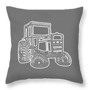 Tractor Transparent Throw Pillow