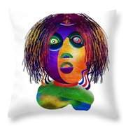 Tracy Mom Color Throw Pillow