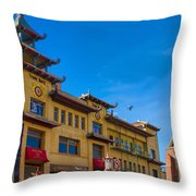 Trade Mark Building On Grant St Throw Pillow