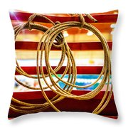 Trade Tools Of A Rodeo Cowboy Throw Pillow