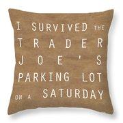 Trader Joe's Parking Lot Throw Pillow