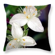 Tradescantia Flower Throw Pillow