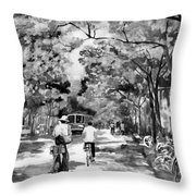 Tradition Vs Modernism Throw Pillow