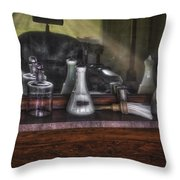 Traditional Barber Shop Throw Pillow