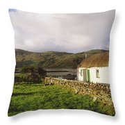 Traditional Cottage, Near Lough Rus Throw Pillow