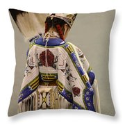 Pow Wow Traditional Dancer 1 Throw Pillow