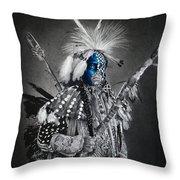 traditional dancer Blue Throw Pillow