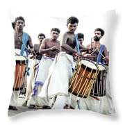 Traditional Drummers Throw Pillow