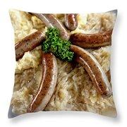 Traditional German Food Throw Pillow