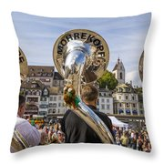 Traditional Guggenmusik Throw Pillow