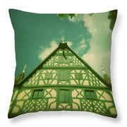 Traditional House Roth Germany Cross Process Holga Photography Throw Pillow