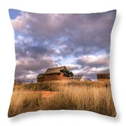 Traditional Hut Of Madagascar Countryside Throw Pillow