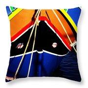 Traditional Maltese Fishing Boat Throw Pillow