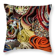 Traditional Moroccan Rugs Throw Pillow