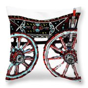Traditional Painted Donkey Cart  Throw Pillow