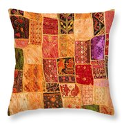 Traditional Patchwork Tapestry Throw Pillow