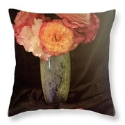 Traditional Rose Still Life Throw Pillow