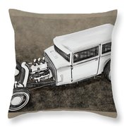 Traditional Styled Hot Rod Sedan Throw Pillow