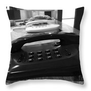 Traditional Telephones Throw Pillow
